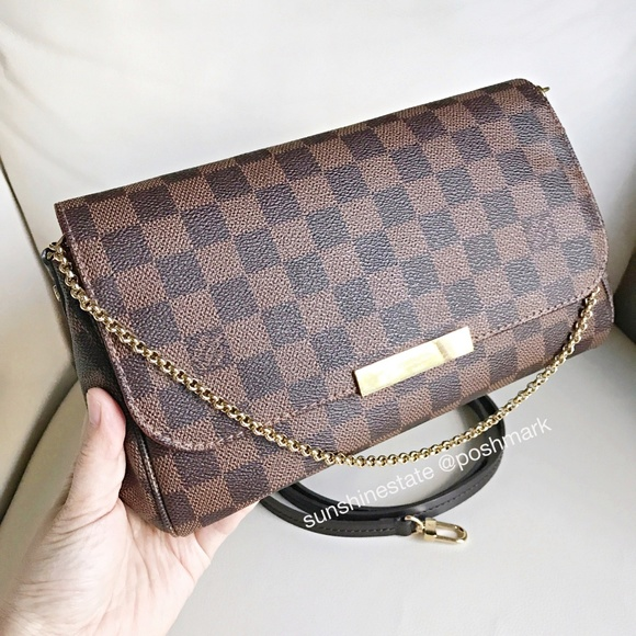 321797915117 LOUIS VUITTON Favorite MM Damier Made in France!